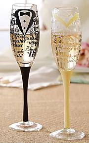 Hand Drawn Champagne Glass (Set of 2)