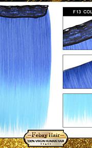 1шт / 110г много клип в шиньон на прямой синтетический расширения f13