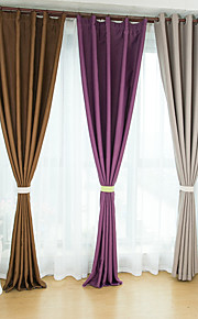 Two Panels European Contracted Simple But Elegant Pure Color Shading Curtains