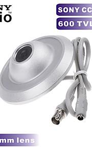 600TVL Sony CCD Color mini câmera ufo câmera 2,8 milímetros de largura ângulo de câmera de segurança CCTV para interior caixa de metal
