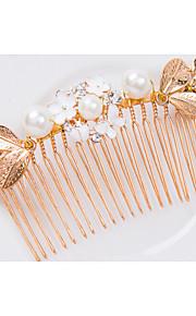 Celada Peinetas Boda/Ocasión especial Perla/Aleación Mujer Boda/Ocasión especial 1 Pieza