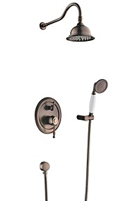 antique robinet de douche pluie et douchette inclus huilé laiton bronze