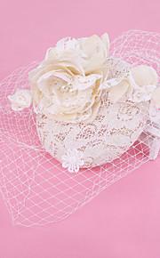 結婚式/パーティー 成人用 レース/真珠/ネット かぶと バードケージベール 1個