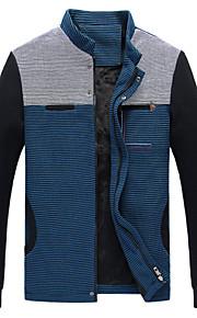 Jacke ( Blau/Gelb , Polyester ) - für Freizeit - für MEN Lang