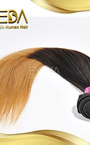 хорошие дешевые малайзийские девственные человеческого шелковые волосы прямые волосы Ombre расширения 2 тон 1b / 27 цвет 1шт только 8 '' -