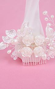 結婚式/パーティー 成人用 真珠/合金 かぶと コーム 1個