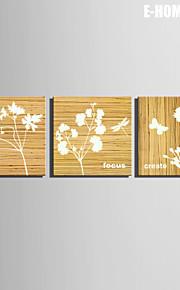 e-Home® venytetty kankaalle art valkoinen kukka koriste maalaus sarja 3
