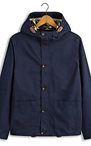 Jacke ( Blau/Grün/Orange/Beige , Polyester ) - für Freizeit - für MEN Lang