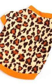 Marrón - Boda/Leopardo/Cosplay - Polar Fleece - Abrigos/Camiseta - Perros/Gatos -