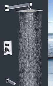paroi shengbaier montage chrome contemporaine robinet de douche pluie