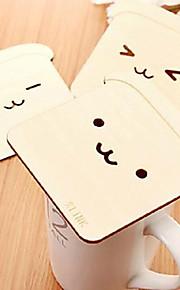 hitzebeständigen japanischen niedlichen Bären brich Setzern Schalenmatte 10x10x0.5cm