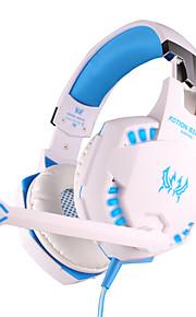 hver g2100 hovedtelefon kabel 3,5 mm i løbet øre gaming vibrationer volumenkontrol med mikrofon til PC
