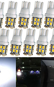lorcoo ™ 20st x t10 20smd 3528 witte LED autolichten lamp 194 168 2825 5W (2 set)