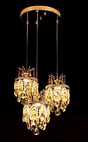Hängande lampor - Living Room/Bedroom/Dining Room/Badrum - Traditionell/Klassisk - Kristall