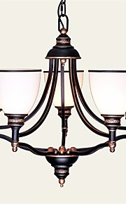 YL Chandeliers 5 LED Bulbs Ceiling Lights Classic/Rustic/Lodge/Vintage/Lantern/Metal Retro Brass American Country Style
