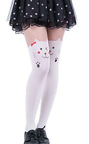 Hot Sales White Kitty Cartoon Pantyhose