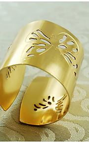 Modelo de mariposa anillo de la decoración de la servilleta, metal, 1.77inch, juego de 12