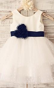 Vestido para Meninas das Flores - Princesa Coquetel Sem Mangas Algodão/Tule