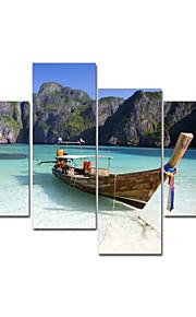 visuell star®boat på havet sträckt duk konstgruppen kanfasmålning redo att hänga