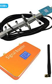 nieuwe LCD-scherm gsm 900MHz mobiele telefoon signaal repeater versterker met zweep en yagi antennes dekking 500m²