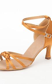 satijn bovenste hoge hak latin dansschoenen ballroom latin schoenen voor vrouwen meer kleuren