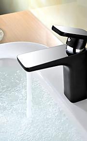 מחצית כרום עכשווי&פליז ציור מחצית מיקסר אחד חם וקר אמבטיה ידית ברז כיור אגן
