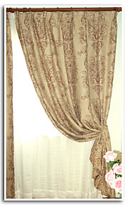 Two Panels European Contracted High-grade Flax Reactive Dyeing Shading Curtains