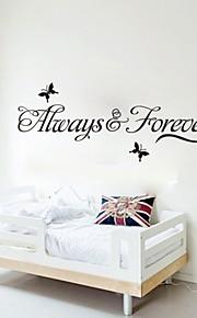 """adorável """"Sempre e para sempre"""" Wall impressão de etiquetas"""