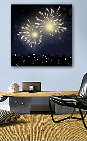 E-Home® gestreckt geführt Leinwanddruck Kunstfeuerwerk geführte blinkende Lichtwellenleiter Druck