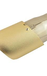 """2.6 """"65 millimetri Presa di scarico auto tubo di punta del silenziatore ovale inclinato taglio tono oro per Audi Q5"""