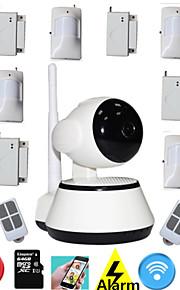 Dag Nacht/Bewegingsdetectie/Dual Stream/Remote Access/IR-cut/Wifi Protected Setup/Plug and play - Binnen PTZ - IP Camera