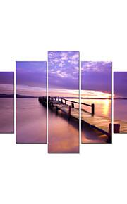 visuell star®sea landskap sträckta canvas utskrift brygga havet väggdekorationer