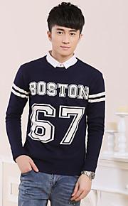 Pullover Uomo Casual Standard Manica lunga Cotone