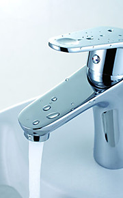 warpeu® nutidige enkelt håndtag krom poleret bordplade dæk monteret messing badeværelse håndvask vandhane hanen mixer