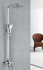 robinet de douche pluie contemporaine douche / douchette inclus laiton chromé