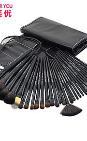 make-up voor u 32pcs zwarte professionele make-up borstel sets