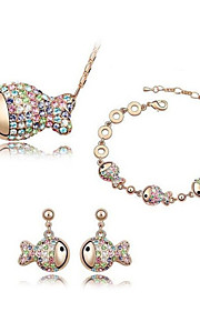 Conjunto de joyas Cristal Rhinestone De mujeres