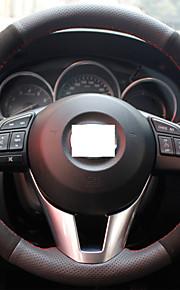 Xuji ™ zwart lederen suede stuurwiel dekking voor 2013-2015 Mazda CX-5 CX5 Mazda 6 Atenza Mazda 3 Axela