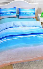 dropshipping têxteis-lar de praia e oceano quente edredons de impressão 3D barato cama vívido definir twin queen rei atacado