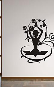 autoadesivi della parete a parete in stile decalcomanie adesivi murali fiore personalità nubile leggiadramente pvc