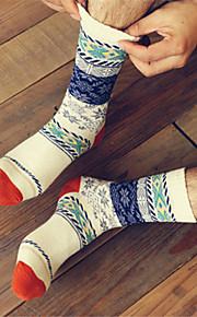 Men's Printed Cotton Winter Socks