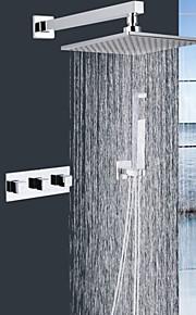 Robinet de douche - Contemporain - Douche pluie - Laiton ( Chromé )
