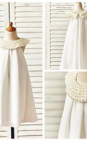 Детское праздничное платье - Платье-чехол Длина до колен Без рукавов Шифон
