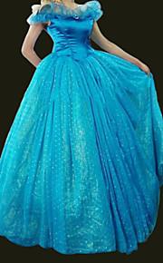 Cinderella - Blå - الالتفاف/Kjole - Cosplay Kostumer - til Kvinnelig