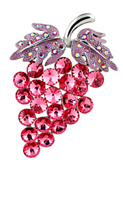 Broche Alliage Rouge Femme