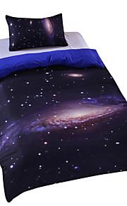 2015 cama nova galáxia definir terra lua impressão lindo design único quilt espaço exterior conjunto de tampa