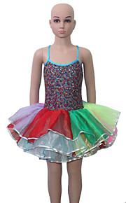 Cross Back Straps Camisole Sequin Leotard Tutu for Ladies and Girls