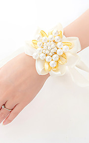 Elegant Pearl Wrist Corsages for Wedding Bride 8.5*8.5cm