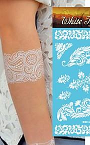 King Horse® India  Tattoo Stickers  Non Toxic/Hawaiian/Waterproof Flower Series Henna Paper 5pcs 20.5*10cm