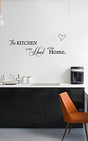 schöne Küche Liebe Ebene Wandaufkleber Wanddekor, PVC herausnehmbare